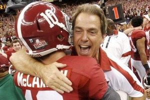 alabama saban celebrating